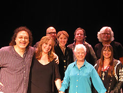 Front: Don Henry, Gretchen Peters, Janis, Susan McCluskey, Back: Daryl Purpose, Diana Jones, Barry Walsh, Walter Egan, Photo by Debra Hyslop