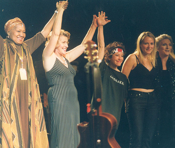Madison Sq. Garden with Odetta, Jewel, Helen Reddy, Judy Collins, January 25, 1999