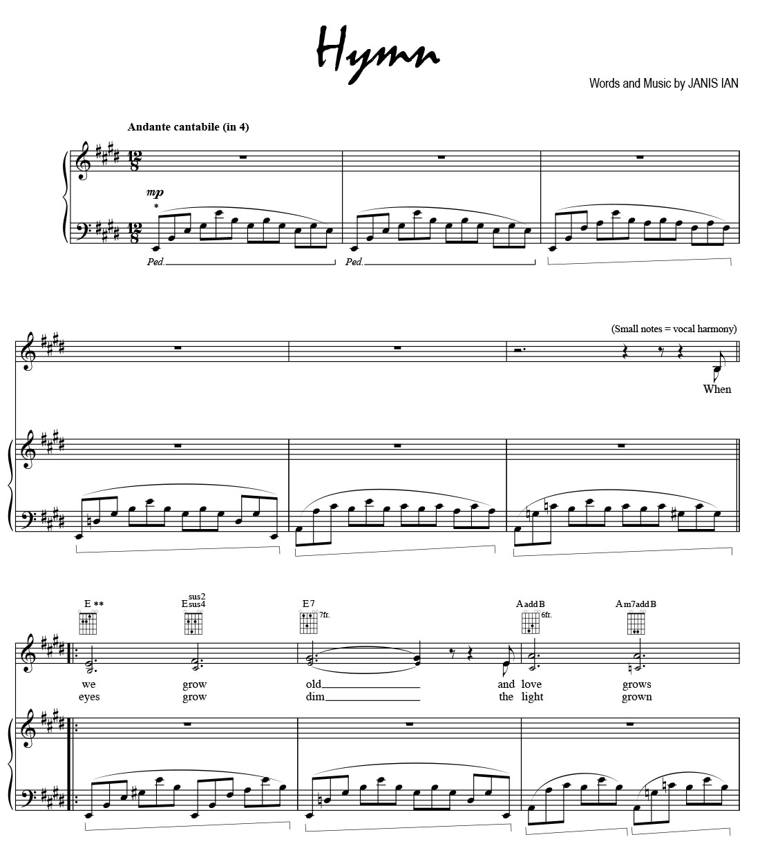 Hymn - Sheet Music