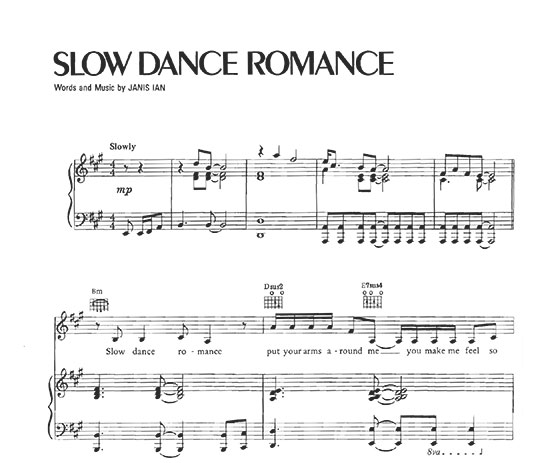 Slow Dance Romance Sheet Music