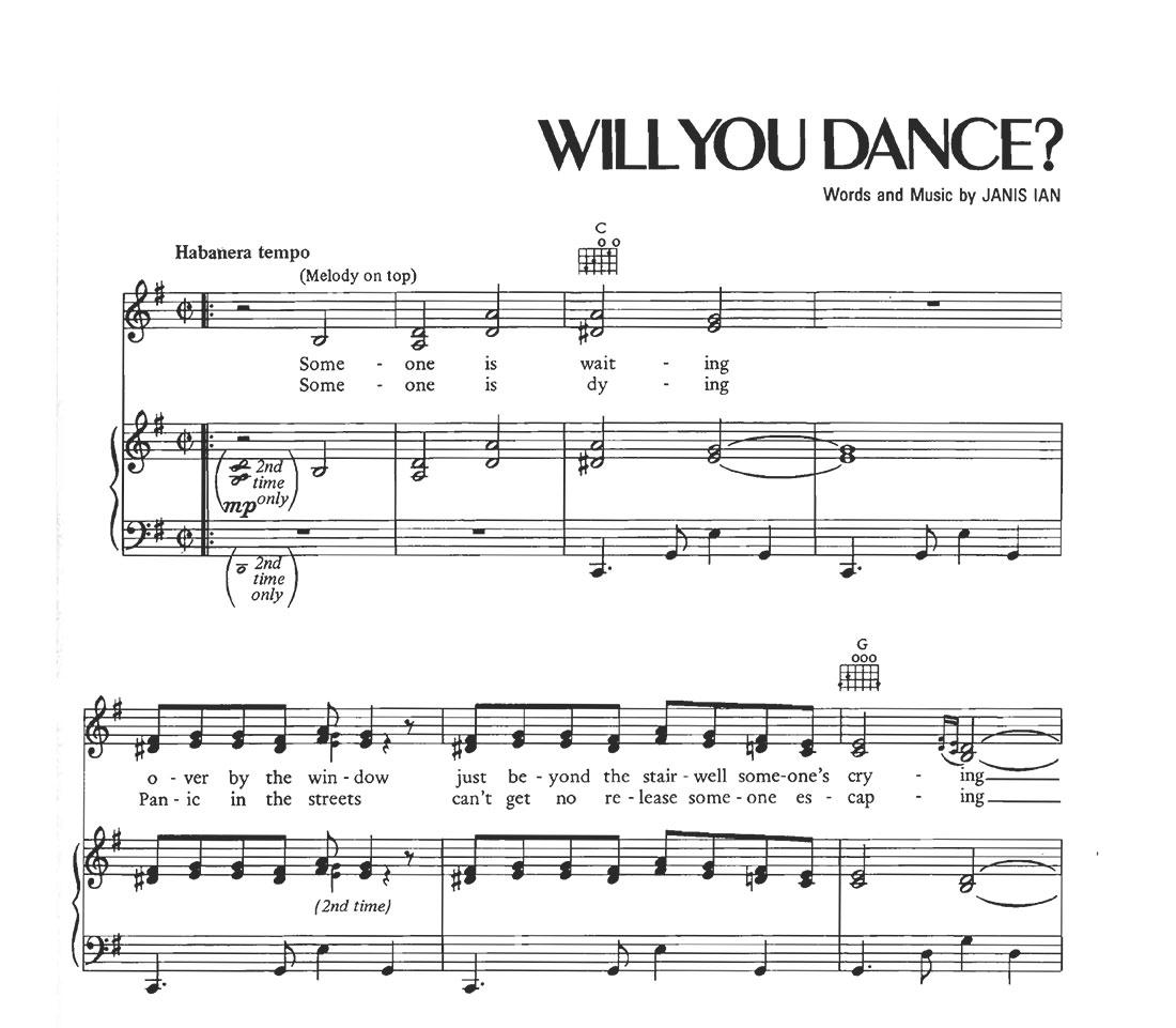 Will You Dance? - Sheet Music